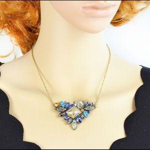 Rhinestone Boho Vintage Nature Stone Necklace